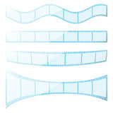 Film strip. Set  transparency film strip.  EPS8 compatible Stock Photo
