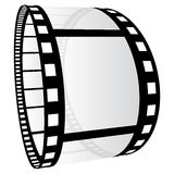 Film strip. Illustration on white background Royalty Free Stock Images