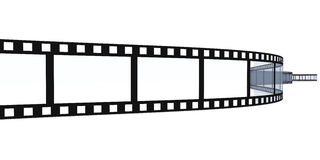 Film Strip. 3D Illustration. Isolated on white Royalty Free Stock Photos