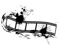 Film strip. Illustration of a film strip on a grunge background Stock Photos