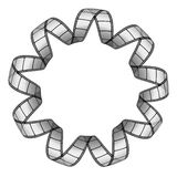 Film strip. Twirled in a circle Stock Image