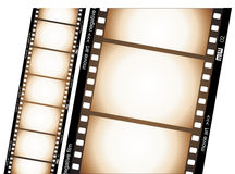 Film strip. Vectorial illustration with old negative film strip Royalty Free Stock Images