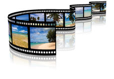Film strip. On a white background Stock Photography