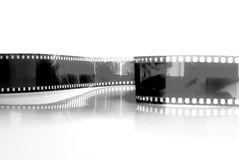 Film strip. Black White film strip background Royalty Free Stock Images