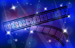 Film Strip. A illustration of Abstract Film Strip Background Royalty Free Stock Photo