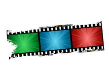 Film strip. Design vector illustration Stock Images