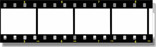 Film strip. Illustration of a film strip Stock Image