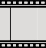 Film strip. A blank film strip in black and gray Royalty Free Stock Photography