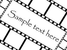 Film strip. Isolated on white background Royalty Free Stock Photography