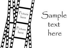 Film strip. Isolated on white background Royalty Free Stock Images