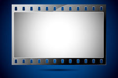 Film Strip. Illustration of film strip frame on abstract background Stock Image