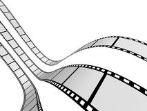 Film Strip 2. 3d film strip. White background Royalty Free Stock Photography