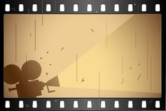 Film Strip. Illustration of film strip frame on abstract background Royalty Free Stock Photo