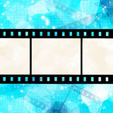 Film strip. On glowing blue background Stock Photo