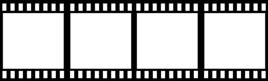 Film Strip. Horizontal blank film strip that can be used as a frame also Royalty Free Stock Image