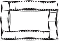 Film strip. On a white background Royalty Free Stock Image