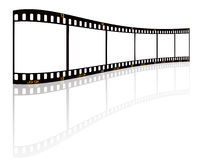 Film strip. On white background Royalty Free Stock Photo