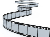 Film strip. 3d render of film strip on white background Royalty Free Stock Photo