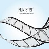 Film strip. Es over blue background. vector illustration Royalty Free Stock Photos
