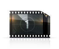 Film strip. Illustration on a white background Royalty Free Stock Photography