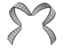 Film Strip. 3d film strip. White background Royalty Free Stock Images