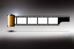 Film strip. Illustration of a roll of 35mm film strip Stock Photography