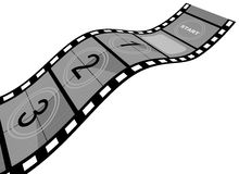 Film Strip. 3d Film Strip with counter. White background Stock Photo