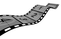 Film Strip. 3d Film Strip with counter. White background Royalty Free Stock Photography