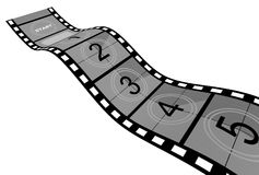 Film Strip. 3d Film Strip with counter. White background Royalty Free Stock Image