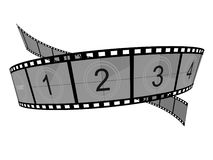 Film Strip. 3d Film Strip with counter. White background Stock Image