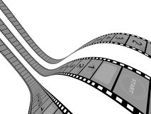 Film Strip. 3d Film Strip with counter. White background Royalty Free Stock Images
