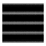 Film Strip. Drawing of a blank film strip frame Stock Photo