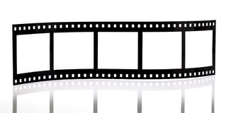 Film strip. On white background Royalty Free Stock Images