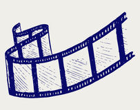 Film strip. Doodle style. Vector EPS 8 Stock Image