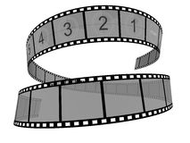 Film Strip. 3d Film Strip. White background Stock Photo