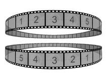 Film Strip. 3d Film Strip. White background Royalty Free Stock Photo