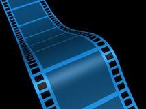Film strip. A conceptual strip film on black background - 3d render Stock Image