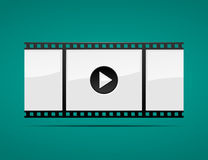 Film Strip. Icon with play button Stock Photography