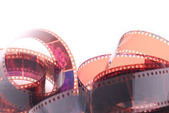 Film strip. Roll on white background Stock Photo