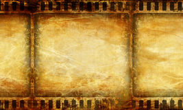 Film strip. On a grunge background Royalty Free Stock Images