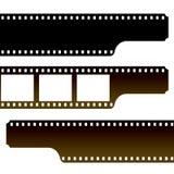 Film strip. Horizontal designing film strips in three types Stock Images