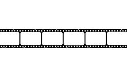 Film strip. With blank frames to put your images there Stock Photos