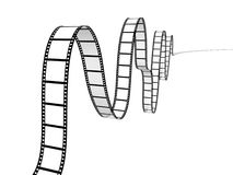 Film strip. On white background Stock Photo