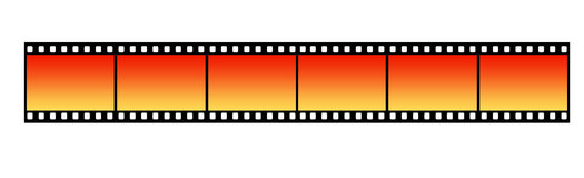 Film Strip. Long Film Strip With Six Frames, 35mm Format, Background Royalty Free Stock Image