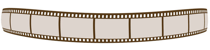 Film strip. Brown film strip isolated on white background Royalty Free Stock Images