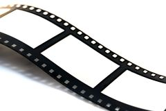 Film strip. Detail of a film strip in black & white Royalty Free Stock Photography