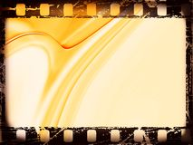 Film strip. Black Film frame, with grunge effects on orange abstract background vector illustration