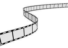 Film Strip. 3d Film Strip. White background. Digitally Generated Stock Photo