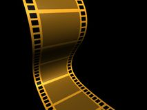 Film strip 5. A conceptual strip film on black background - 3d render Royalty Free Stock Photography