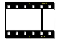 Film strip. Black film strip with film number 1 Royalty Free Stock Photos